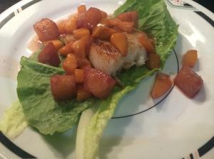 Carmelized Mango Salsa Sea Bass