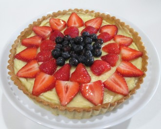 completed tart